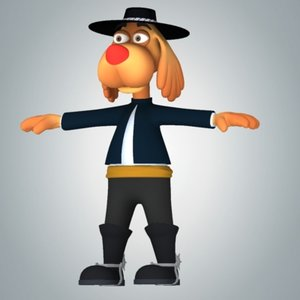 dog character morph 3d model