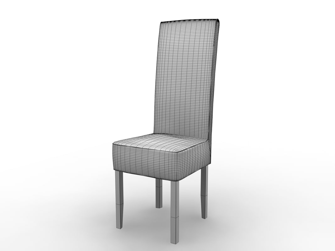 leather dining chair 3d model