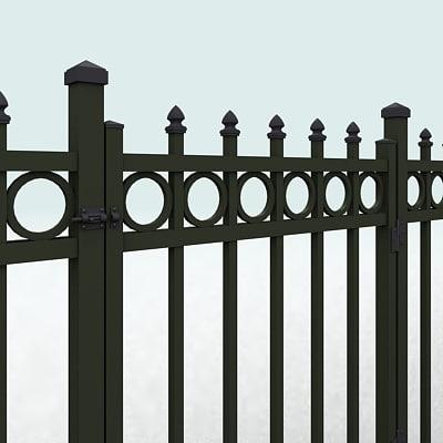 fence doors 3d model