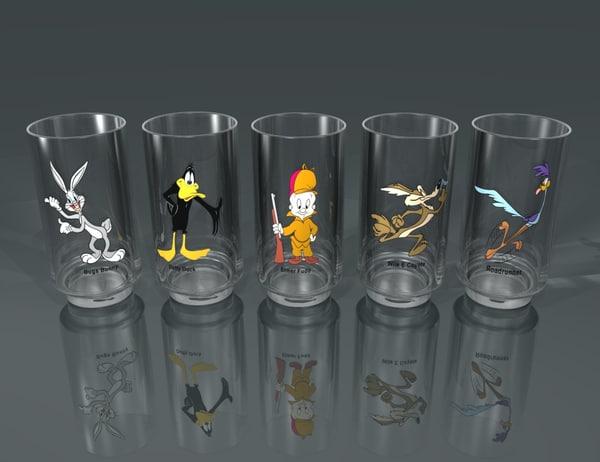 looney character glasses 3d model
