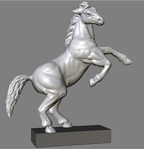statue horse roman 3d model
