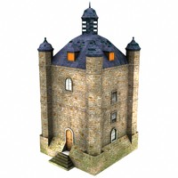 free city watchtower 3d model