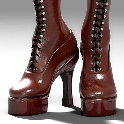 boot knee 3d model