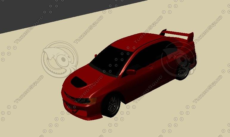lancer 3d model