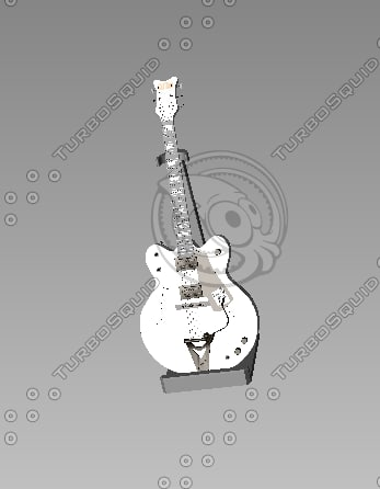 guitar 3d model