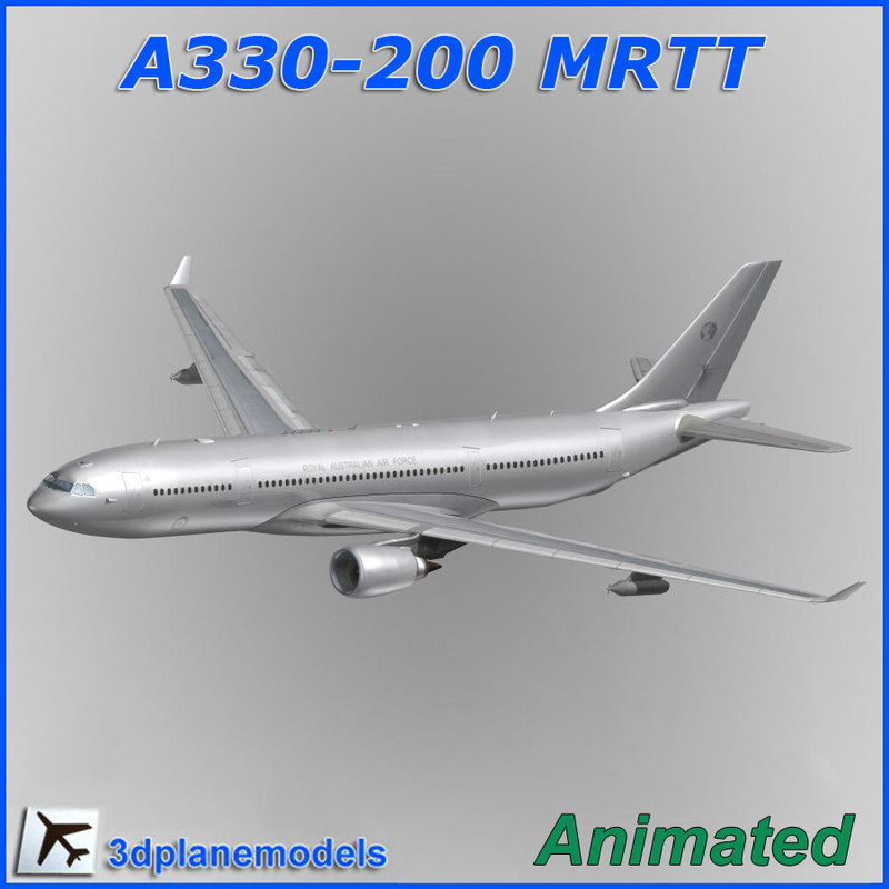 airbus a330 tanker transport 3d model