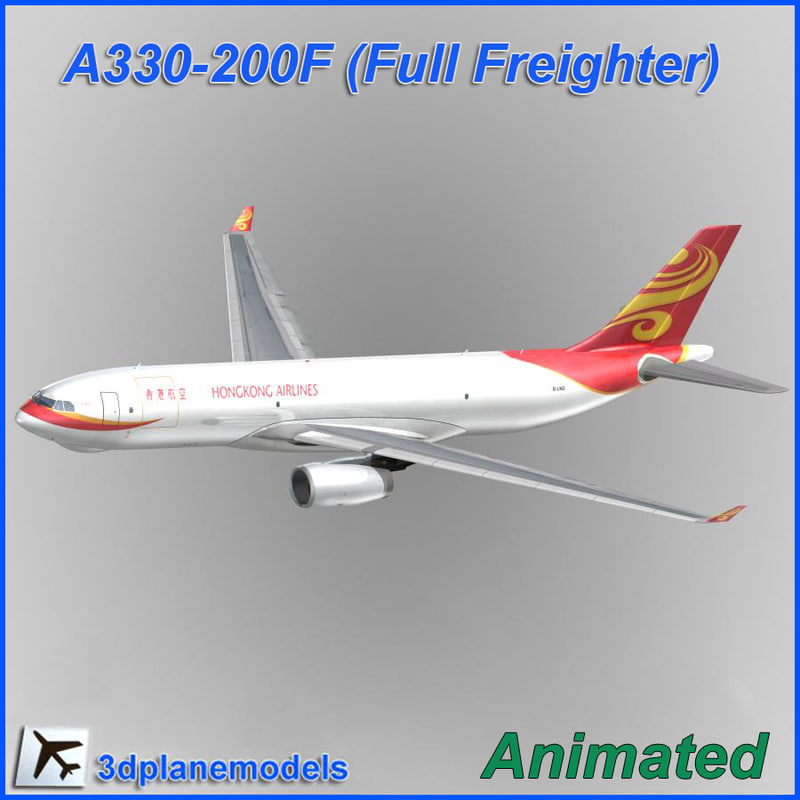 airbus a330f aircraft 3d model