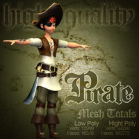 3ds max cartoon pirate