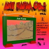 ant farm 3d model