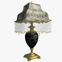 victorian beaded lamp lights 3d model