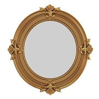 CLASSIC ROUND OVAL MIRROR GOLDEN