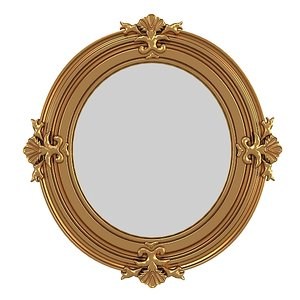 classic oval mirror 3d model