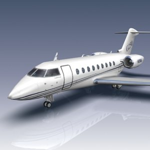 g250 aircraft business jet 3d model
