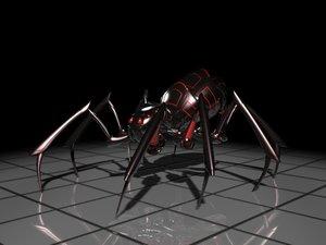 robotic spider 3d model