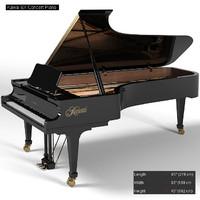 kawai concert grand 3d model