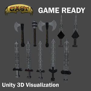 medieval weapon 3d model