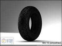 tire wheels 10 3d model