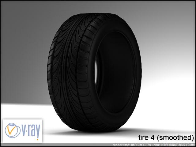 tire 4 3d model