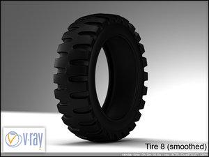 tire 8 3d model