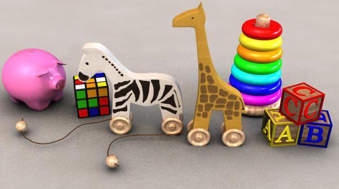 set toys 3d model