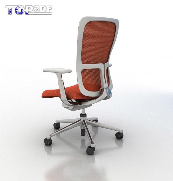 haworth zody chair 3d model