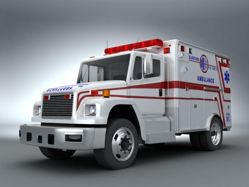 emergency ambulance 3d model