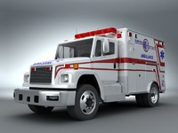 emergency ambulance 3d model