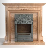 fireplace interior materials 3d model