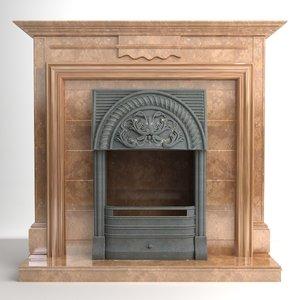 fireplace interior materials 3d model