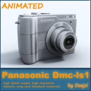 digital camera panasonic lumix 3d model
