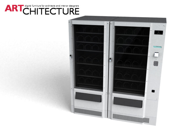 food vending machine 3d model