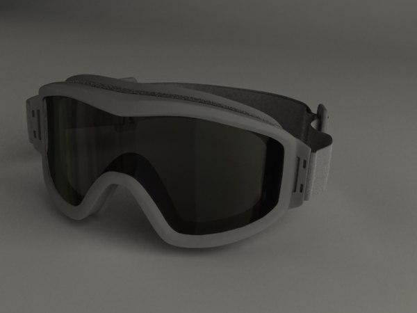 tactical goggles 3d model