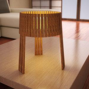 shio sh02 table lamp 3d model