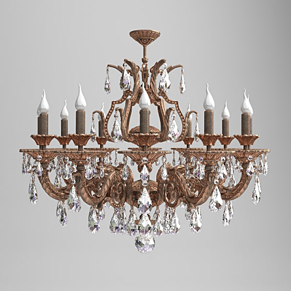 antique chandelier 3d model
