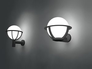 wall spherical lamps 3d model