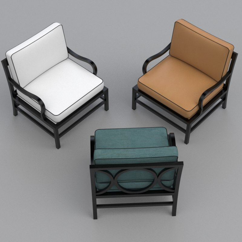 chair armchair o 3d model