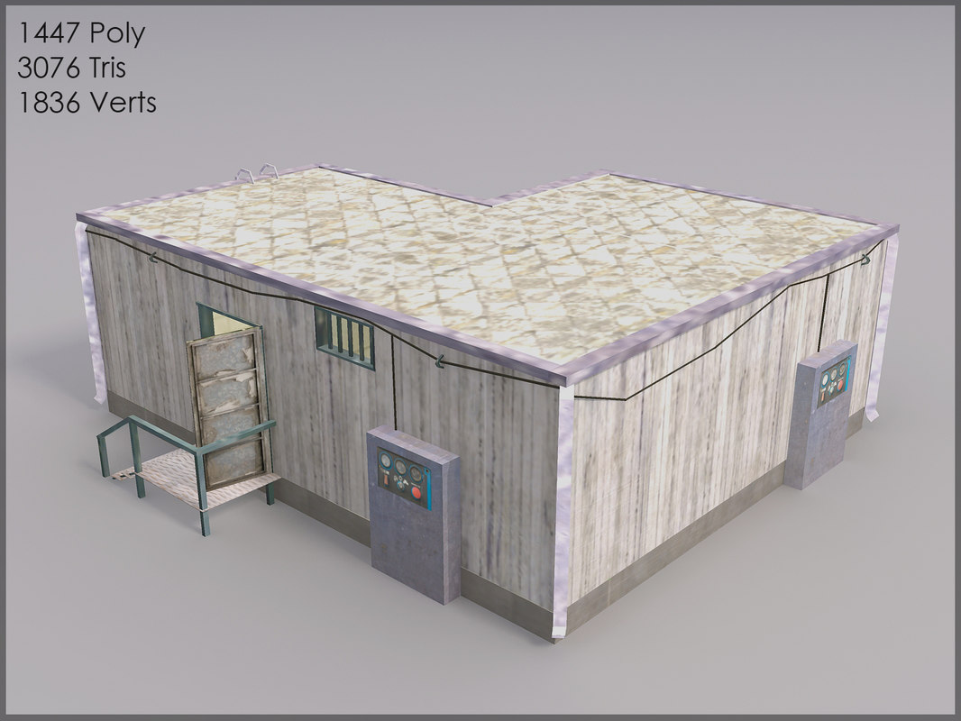 military storage interiors 3d model