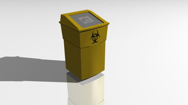 medical bin 3d model