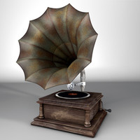 gramophone modelled 3d model