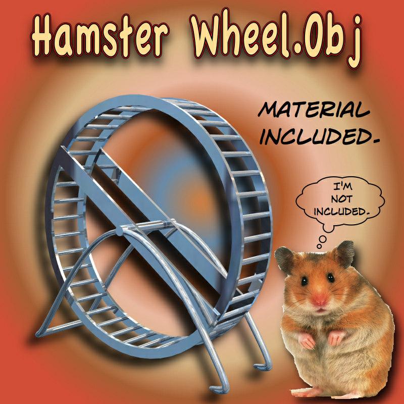 hamster wheel 3d model