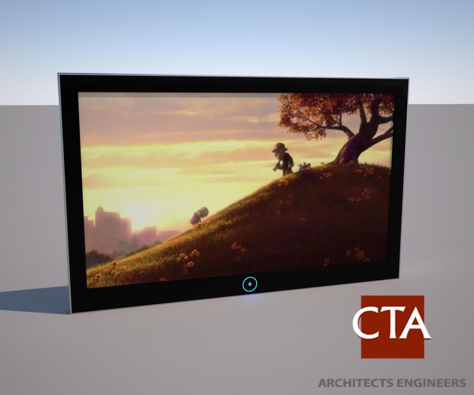flat panel television 3d model