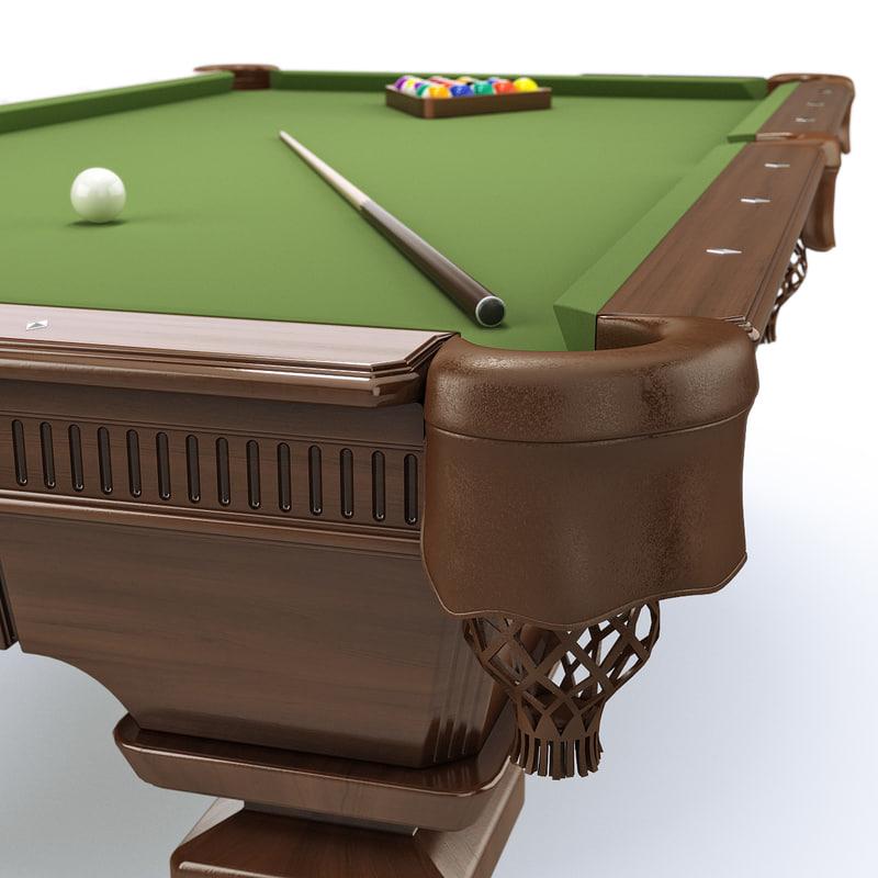pool table 8ft classic 3d model
