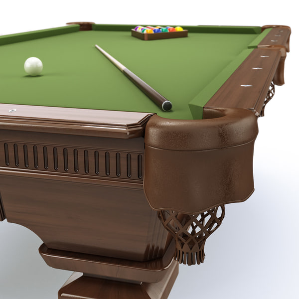pool table 8ft classic 3d model