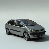 citroen xara picasso 3d model