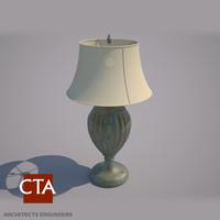 rustic desk lamp 3d model