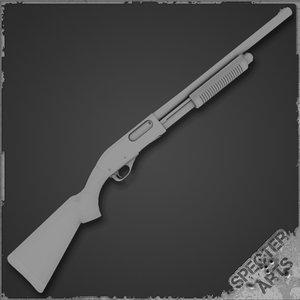 870 shotgun 3d model