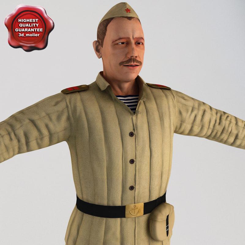 soviet marine t-pose 3d model