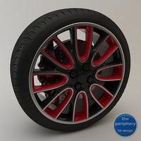 sport wheel 3d model