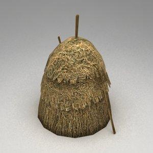 haystack fork 3d model