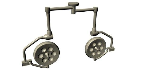 surgery lights 3d model